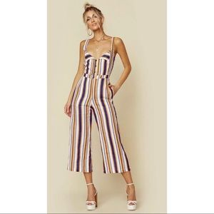 NWT Size XL Faithfull The Brand Striped Jumpsuit